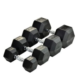 Шестигранные гантели Rising Rubber Hexagon Dumbbell 50-80 кг