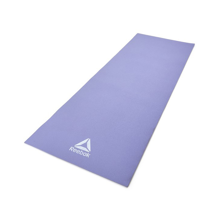 Мат для йоги Reebok двухсторонний 173 х 61 см Сиреневый/Cерый (RAYG-11060PLGR)