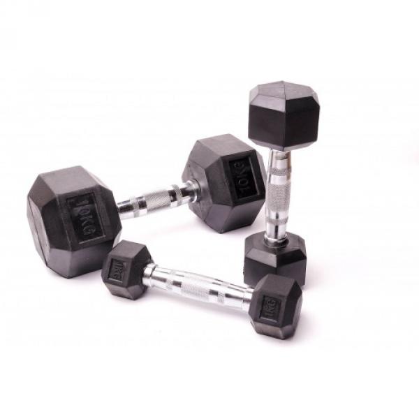 Гантельный ряд 10 пар 1-10 кг (D-03)