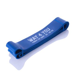 Резиновая лента для фитнеса синяя Way4you 62мм (w40006)