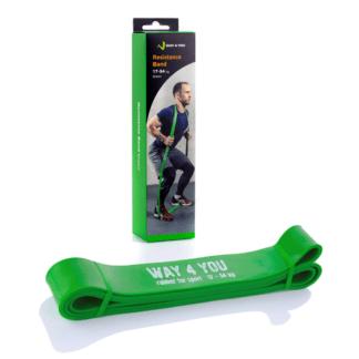 Резиновая лента для фитнеса зеленая Way4you 43мм (w40005)