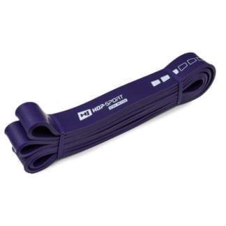 Резиновая лента для фитнеса фиолетовая 16-39 кг (HS-L032RR)