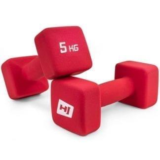 Гантели неопреновые квадратные 2х5 кг HS-V050DS