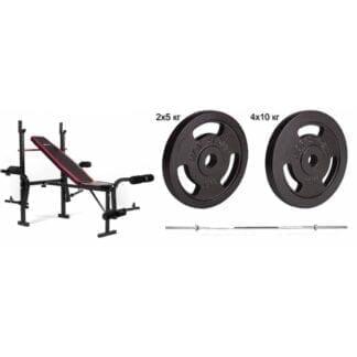 Набор Hop-Sport Strong 60 кг со скамьей HS-1055