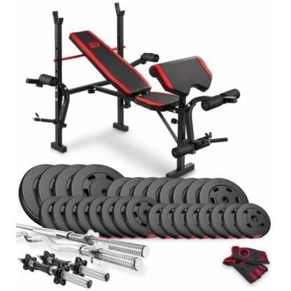 Набор Premium 124 кг с скамьей HS-1055