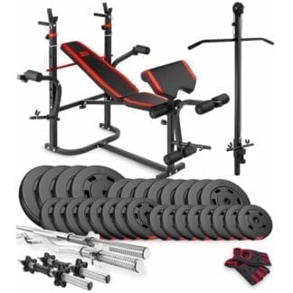 Набор Premium 124 кг со скамьей HS-1065