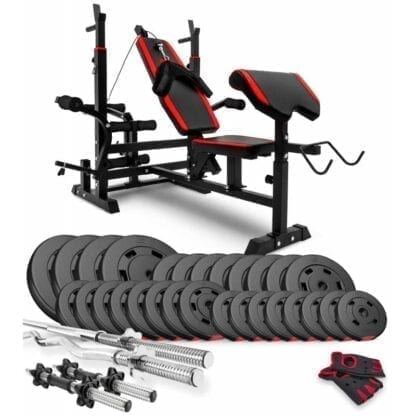 Набор Premium 124 кг со скамьей HS-1075