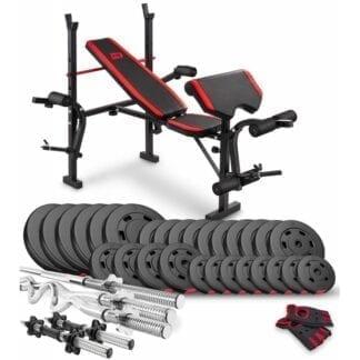 Набор Premium 160 кг с скамьей HS-1055