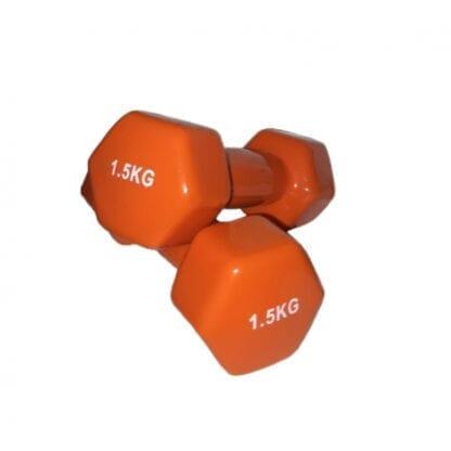 Гантели виниловые 1,5 кг Fitnessport (VDD-01-1,5к)
