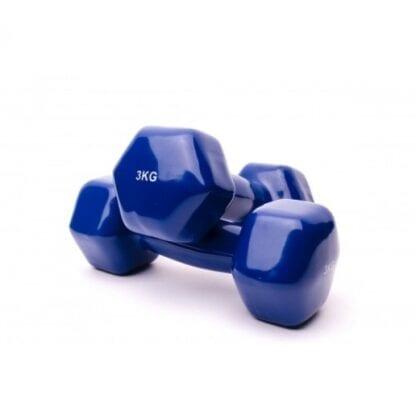 Гантели виниловые 3 кг Fitnessport (VDD-01-3k)