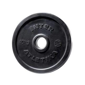 Диск обрезиненный InterAtletika 10 кг (LCA025)