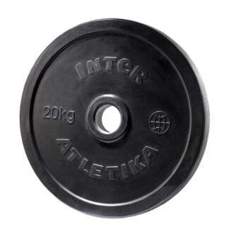 Диск обрезиненный InterAtletika 20 кг (LCA027)