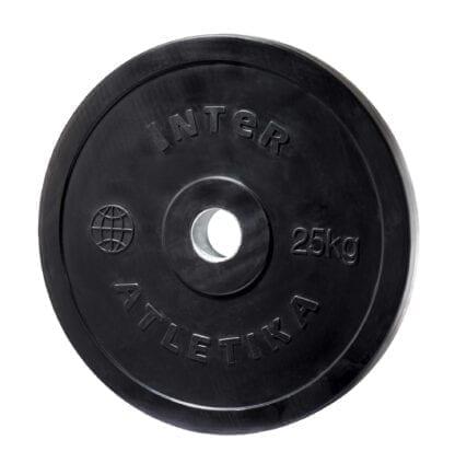 Диск обрезиненный InterAtletika 25 кг (LCA028)