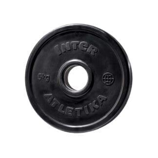 Диск обрезиненный InterAtletika 5 кг (LCA024)