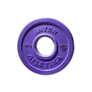 Диск обрезиненный цветной InterAtletika 1,25 кг (LCA029)