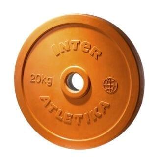 Диск обрезиненный цветной InterAtletika 20 кг (LCA034)