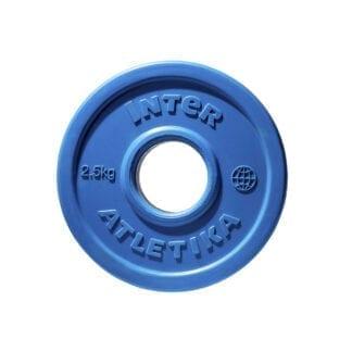 Диск обрезиненный цветной InterAtletika 2,5 кг (LCA030)