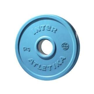Диск обрезиненный цветной InterAtletika 5 кг (LCA031)
