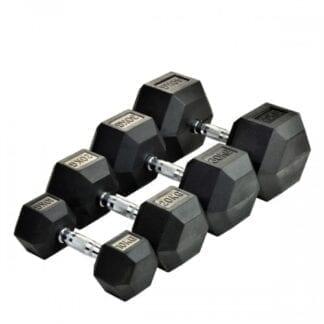 Комплект гексагональных гантелей Stein 60-80 кг / 5 пар / шаг 2,5 кг
