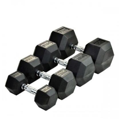 Комплект гексагональных гантелей Stein 80 кг / 1 пара