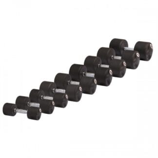Комплект обрезиненных гантелей Stein 15-60 кг / 10 пар / шаг 5 кг