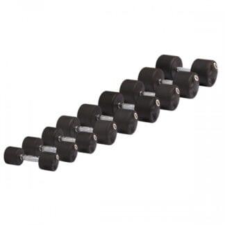 Комплект обрезиненных гантелей Stein DB3051.12-40 кг / 15 пар