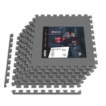 Мат-пазл Hop-Sport EVA 1cm HS-A010PM - 6 частей серый