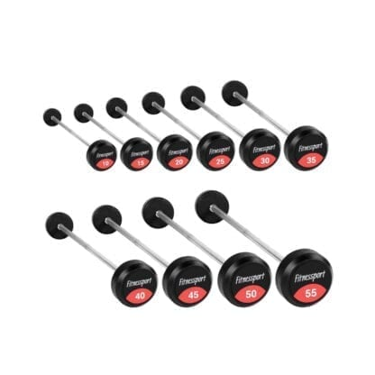 Набор прямых штанг с фиксированным весом Fitnessport 10-30 кг (FDS 22/1)