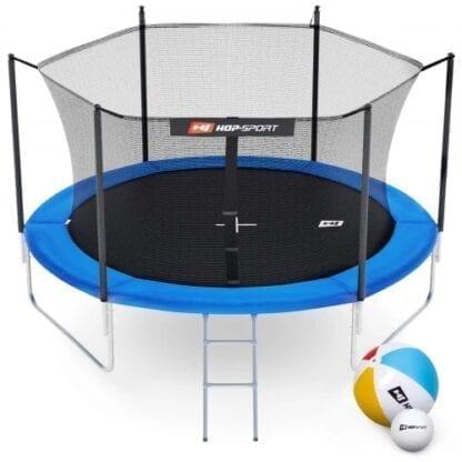 Батут Hop-Sport 10ft (305cm) синий с внутренней сеткой (3 ноги)