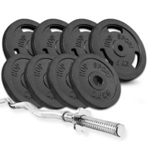 Набор Strong 37 кг с W- или Z- образным грифом