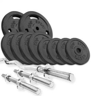 Набор Strong 37 кг с W- или Z- образным грифом и гантелями