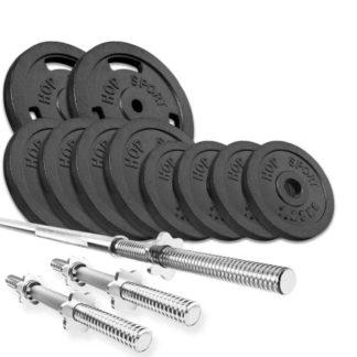 Набор Strong 39 кг с прямым и гантельными грифами
