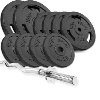 Набор Strong 57 кг с W- или Z- образным грифом