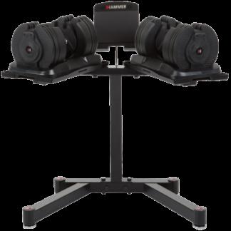Гантели Hammer Cleverlock Dumbbell Beast 2 х 20 кг со стойкой 6777