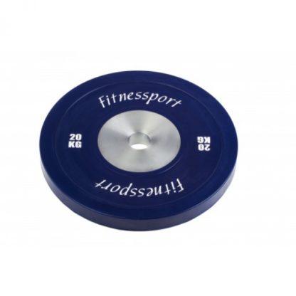 Диск для кроссфита соревновательный цветной 20 кг Fitnessport