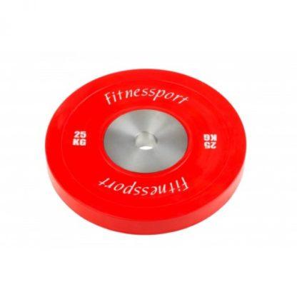 Диск для кроссфита соревновательный цветной 25 кг Fitnessport