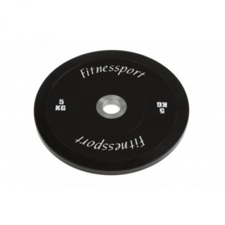 Диск для кроссфита соревновательный цветной 5 кг Fitnessport