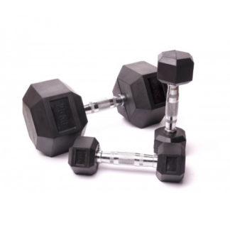 Гантельный ряд для кроссфита (6 пар) 225 кг Fitnessport D-05 12,5/25kg