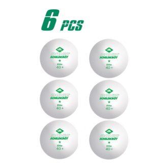 Мячи для настольного тенниса Donic Elite 1 звезда 40+ (6шт)